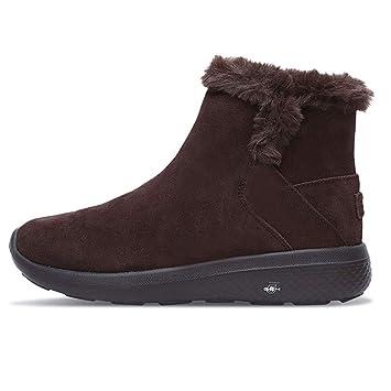 Botas Botines de Terciopelo de Moda Zapatos de Mujer Zapatos para Caminar Nieve Ligeras Terciopelo cálido