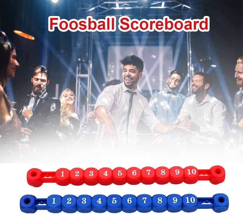 Tablón de puntuación de fútbol Balilla 2 Unidades, Marcador de apuntes de Mesa de fútbol, Pieza de Repuesto para Mesa de Juegos fácil de Instalar, Accesorios para máquinas de fútbol Balilla, Rojo: