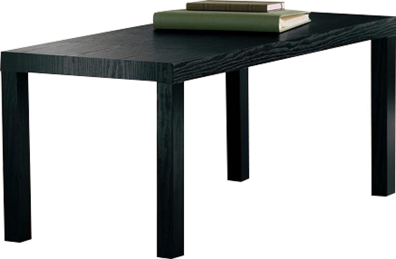 Parsons Square Coffee Table Amazoncom Dhp Parsons Modern Coffee Table Black Wood Grain
