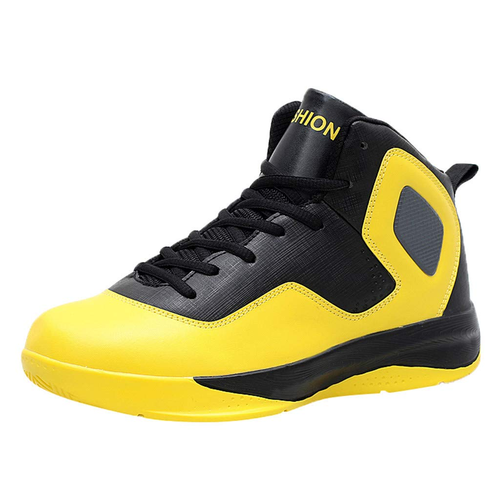 Men High Top Basketball Shoes, Mosunx Shock Absorption Ankle Protect Sneakers Elastic Winter Warm Sport Shoes by Mosunx