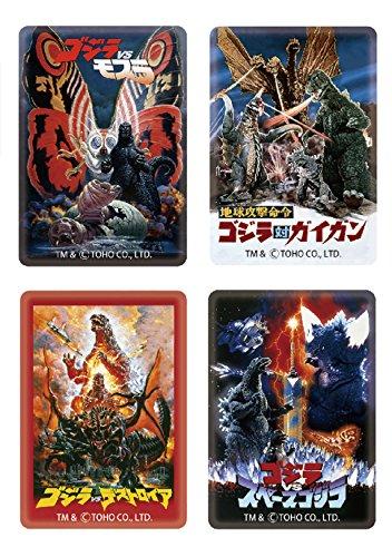 Falkert Miscellaneous Goods Bags Decorative (Fashion Accessories) (Godzilla) Magnet 4 Pieces Set Poster Pattern 2, Clear (Godzilla Magnet)