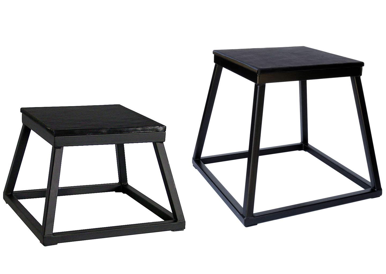 Ader Plyometric Platform Set- 12 18 All Black Color