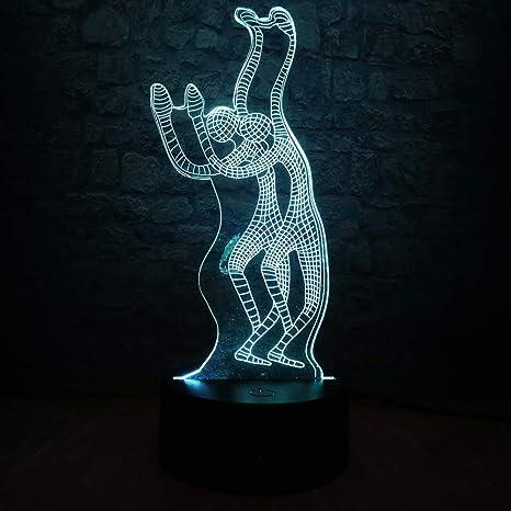 Novedad Yoga Bailando Lámpara 3D Noche USB Iluminación LED ...