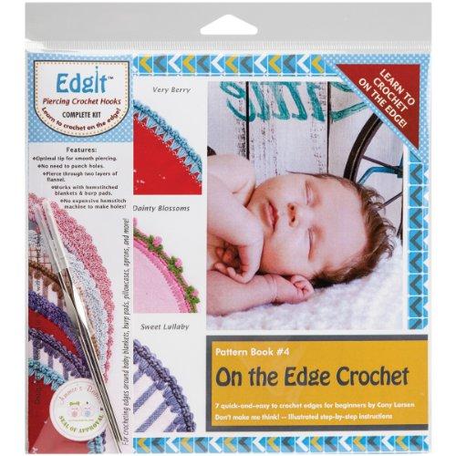 Blanket Edging Crochet Baby (Ammees Babies Edgit Piercing Crochet Hook & Book Set-On The Edge Crochet)