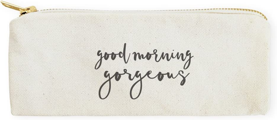 The Cotton & Canvas Co. Good Morning Gorgeous Cosmetic Case, Pencil Case and Travel Pouch for Office and Back to School