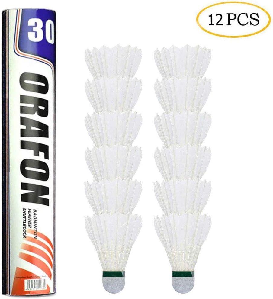 Unterhaltung AimTop 12 St/ück Badminton Federb/älle Badminton B/älle Naturfederb/älle mit hoher Stabilit/ät und Haltbarkeit Federball Training Badmintonb/älle f/ür Bewegung G/änsefeder Badminton Set