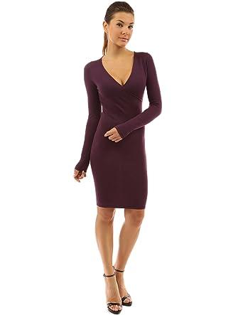 PattyBoutik Women's V Neck Long Sleeve Knit Dress at Amazon ...