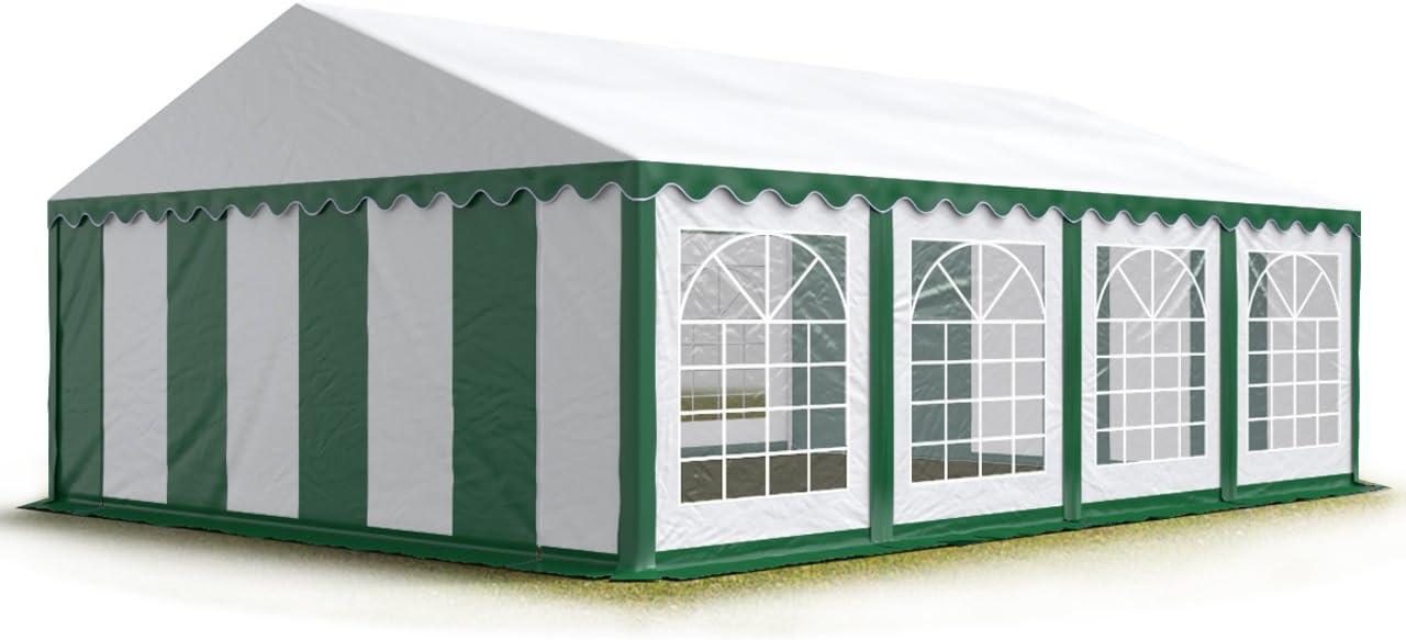 TOOLPORT Tendone per Feste 3x3 m PVC Bianco 100/% Impermeabile Gazebo da Giardino Tendone da Esterno Tenda Party