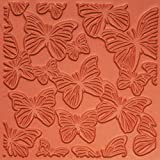 Jewelry Artist Supply Butterflies Texture Mat - 3'' X 3''