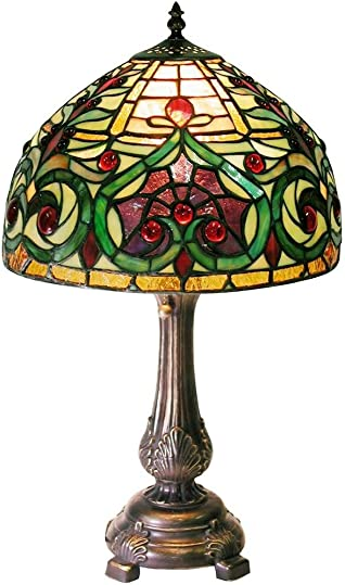 Warehouse of Tiffany 1669-MB163 Tiffany-style Jeweled Petite Table Lamp