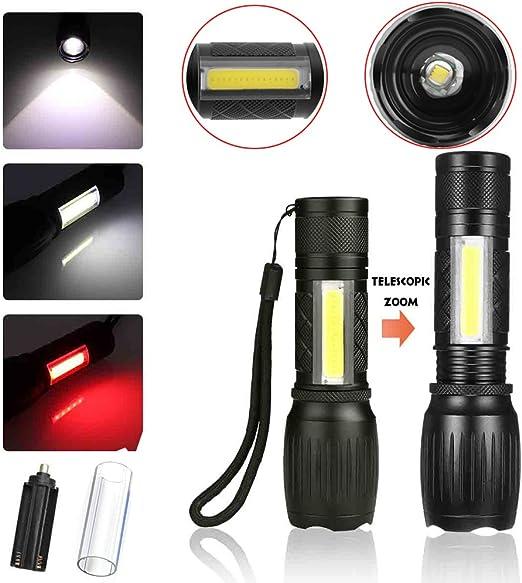 COB DEL Travail Lumière Tête Lampe De Poche Torche Sécurité Poignée En Caoutchouc Camping Lampe de Poche