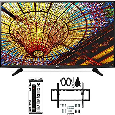 LG 49UH6100 49-Inch UH6100 4K UHD Smart TV w/ webOS 3.0 Flat/Tilt Wall Mount Bundle includes Television, lat & Tilt Wall Mount Ultimate Kit and Power Strip with Dual USB Ports