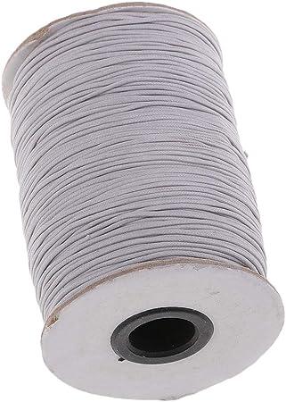 sharprepublic 170 Metros 1mm Algodón Encerado Cordón Rebordear Joyas Hilo - Gris Claro: Amazon.es: Hogar