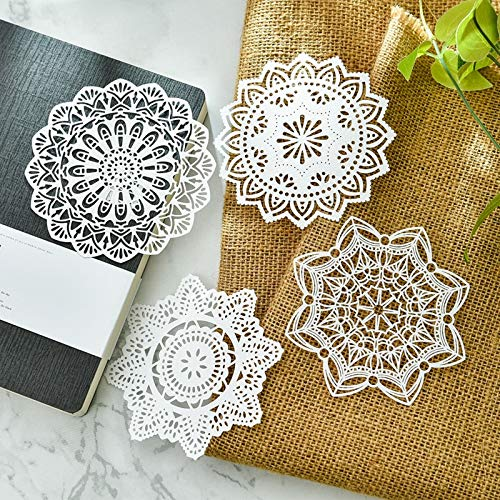 VU ANH TUAN Store Pads Placemats White Lace Paper Doilies/Placemats for Wedding Party Decoration Supplies Scrapbooking Paper Crafts