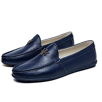 Amazon Com Hy Men S Leather Shoes Casual Stylish Driving Shoes