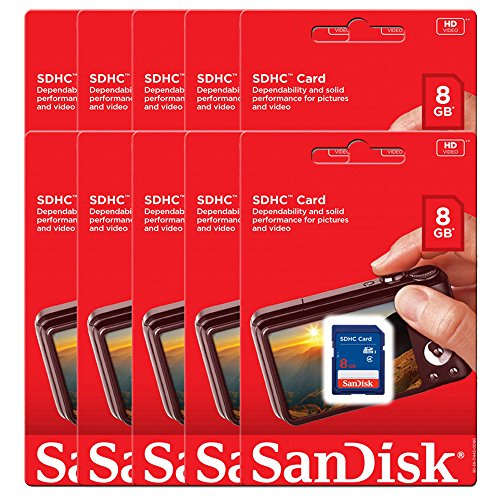 10 Piece SanDisk SDSDB-008G 8GB SDHC Class 4 SD sdhc flash Memory Card for DSLR Camera Nikon Canon from SanDisk