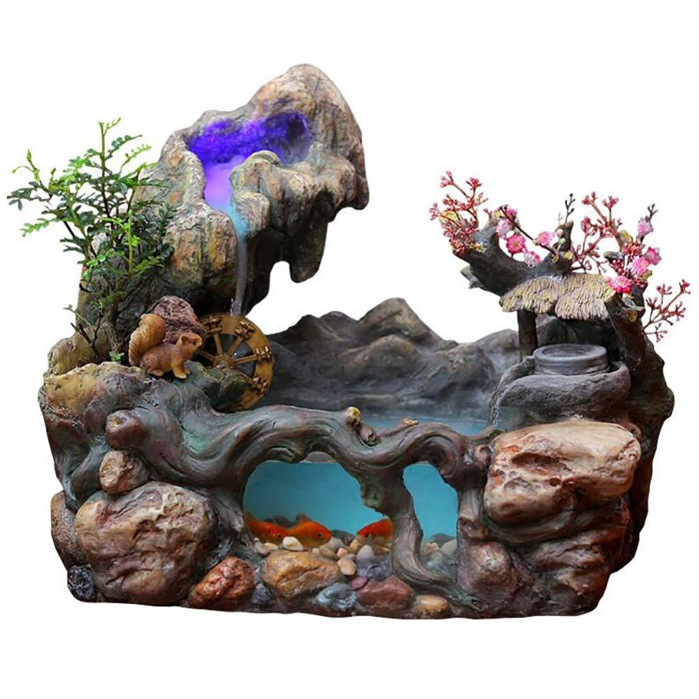 Escritorio Cascada Feng Shui Mesa De Mesa Interior Rocalla ...