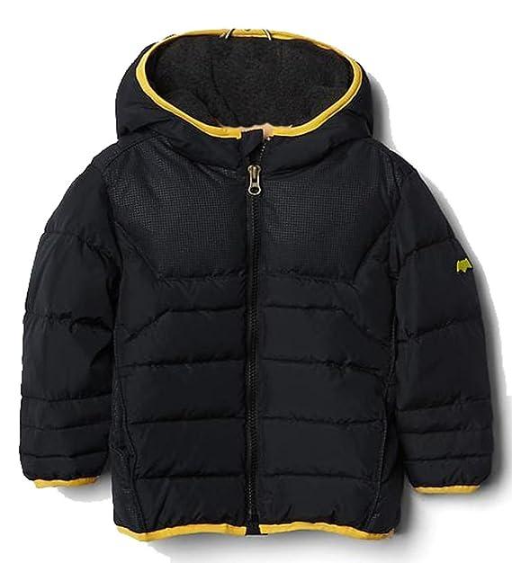 b6d5958ae Baby Gap Toddler Boys Black Black Batman Puffer Winter Coat 12-18 ...