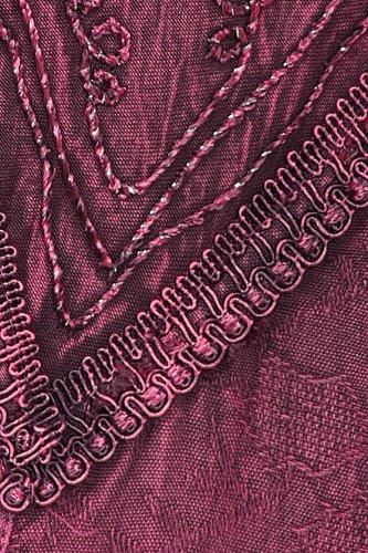 rayonne robe Stonewashed Sakkas longueur brods Orchide mi rglables bretelles 45gqXw