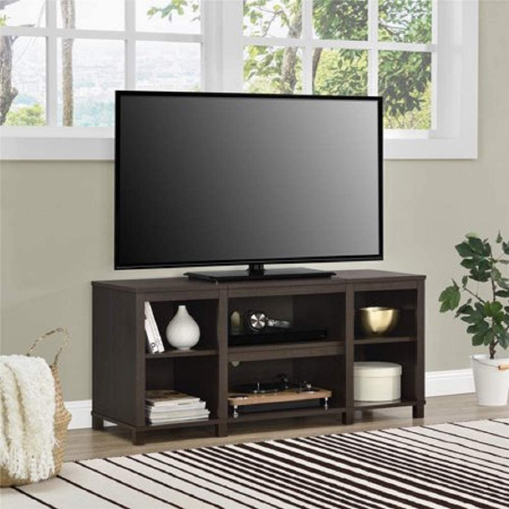 Mainstay Parsons Cubby Tv Stand Holds Up To 50 Tv Black Oak Espresso Tv Stand Only Furniture Decor