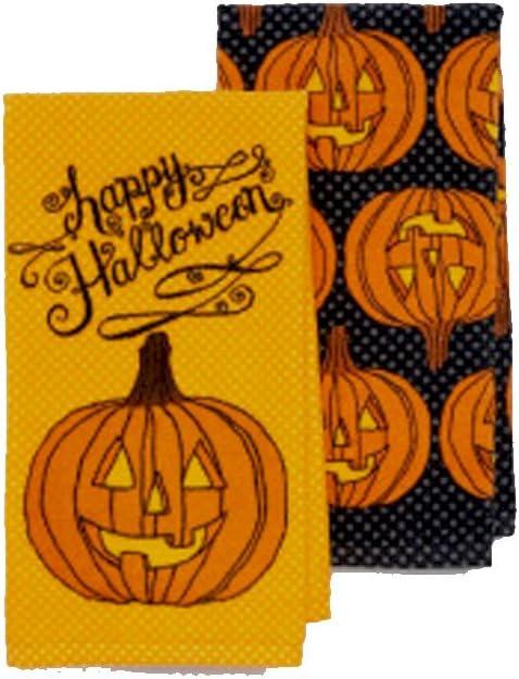 Spiders 2 Pack Halloween Midnight Market 100/% Cotton Kitchen Hand Towels