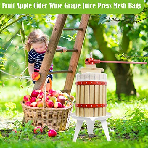 W&W Brew Bags Reusable Straining Mesh Bag for Fruit Wine Cider Press Apple Grape Filter Bag Drawstring Brew in a Bag 250 Micron (White, Multi-Size/3pcs)