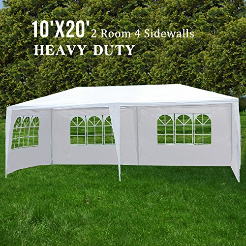 ORKAN 10'x20' Canopy Party Wedding Tent Outdoor Gazebo Heavy Duty 5 Sidewalls