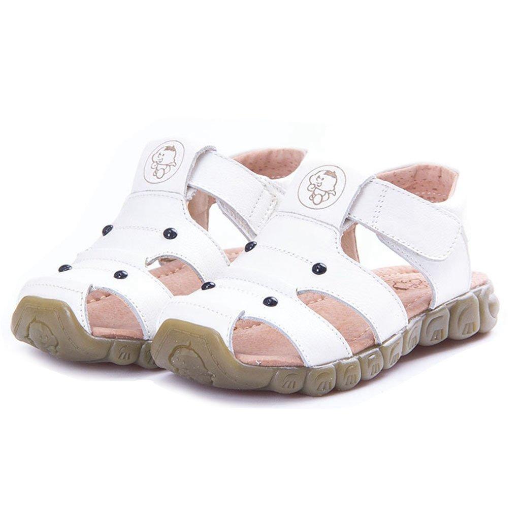 GIY Boy's Girl's Leather Closed Toe Outdoor Sport Sandals Fisherman Sandal For Kids (Toddler/Little Kid)