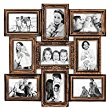 Hello Laura – 9 Opening 18″ x 18″ inch Wall Hanging Photo Frame, 4 x 6 inch Photo Sockets x 9, Black Frame Edge | Gallery Style Review