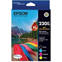 EPSON 220XL Capacity Four Colour Value Pack (Black, Cyan, Magenta and Yellow)-Epson Workforce WF-2630, WF-2650 & WF-2660
