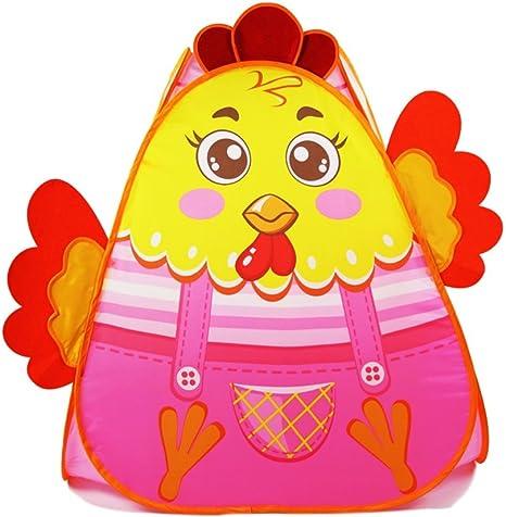 Pop-up Tienda de campaña de los niños, Estilo de Dibujos Animados de Pollo de Color