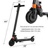"COZYSWAN Electric Kick Scooter, 6.5"" Foldable"