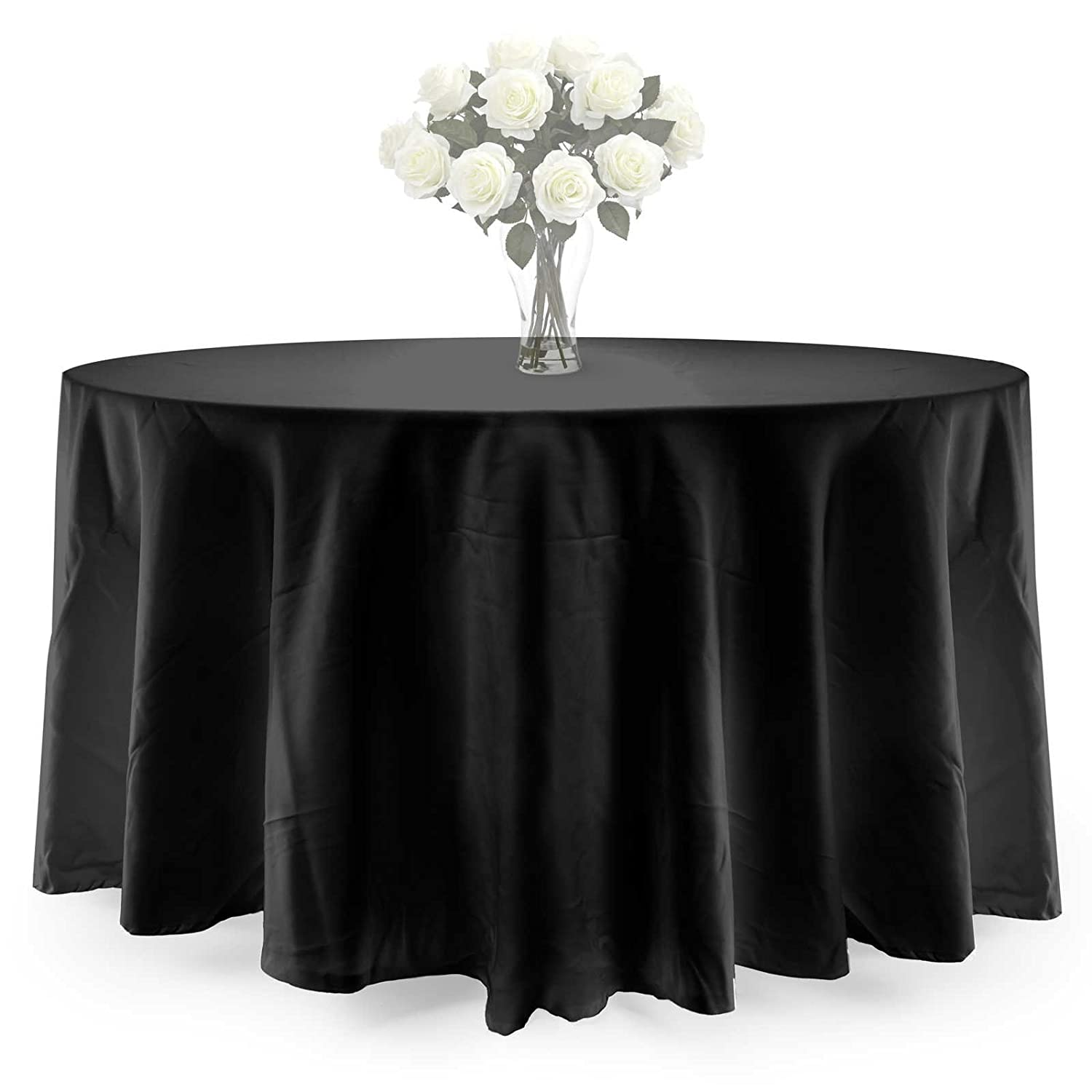 Amazon.com: Lannu0027s Linens PREMIUM WEIGHT Polyester Tablecloth   For  Wedding, Restaurant Or Banquet Use   120 In. Round, White: Home U0026 Kitchen
