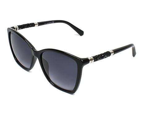 Amazon.com: anteojos de sol SWAROVSKI SK 0148 01B Negro ...