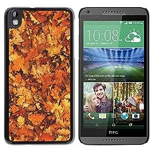 """Pulsar Snap-on Series Teléfono Carcasa Funda Case Caso para HTC DESIRE 816 , Hojas de oro de Brown Bosque Amarillo"""""""