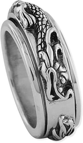 Cartridge Ring Sterling Silver size 9