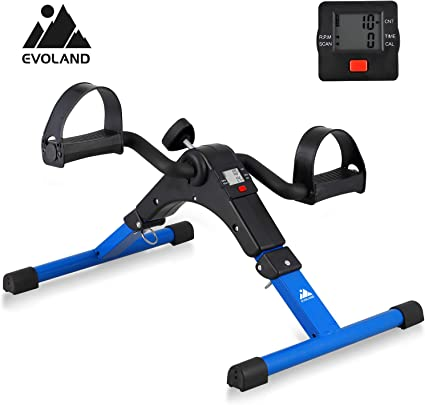 EVOLAND Pedales Estaticos, Mini Bicicleta Estática Plegable ...