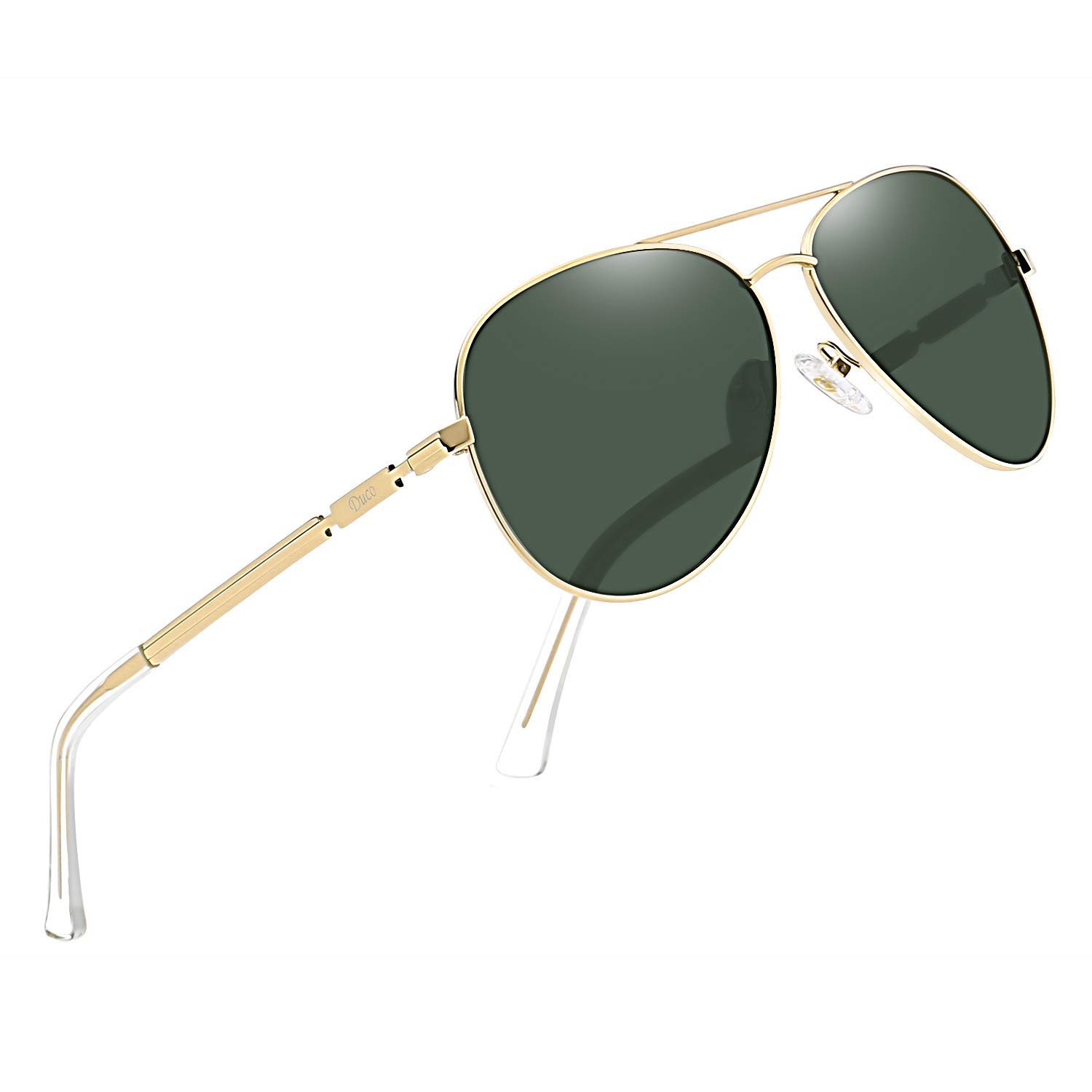 DUCO Aviator Style Polarized Sunglasses for Men and Women 3025K by DUCO