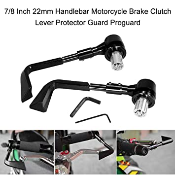 Universal Fit 7/8 Gold CNC Brake Clutch Lever Protector Pro Guard Alarm Accessories