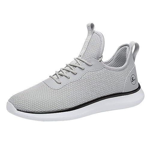 Cinnamou Las Mujer Casual Zapatos Transpirables de Cordones Zapatillas de Deporte Zapatos Gimnasia Ligero Sneakers de Plano Hollow: Amazon.es: Zapatos y ...