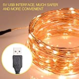Boomile String Lights 100LED 33ft Copper Wire Lights Waterproof Fairy String Lights Ambiance Lighting for Patio Garden Christmas Wedding (warm white)