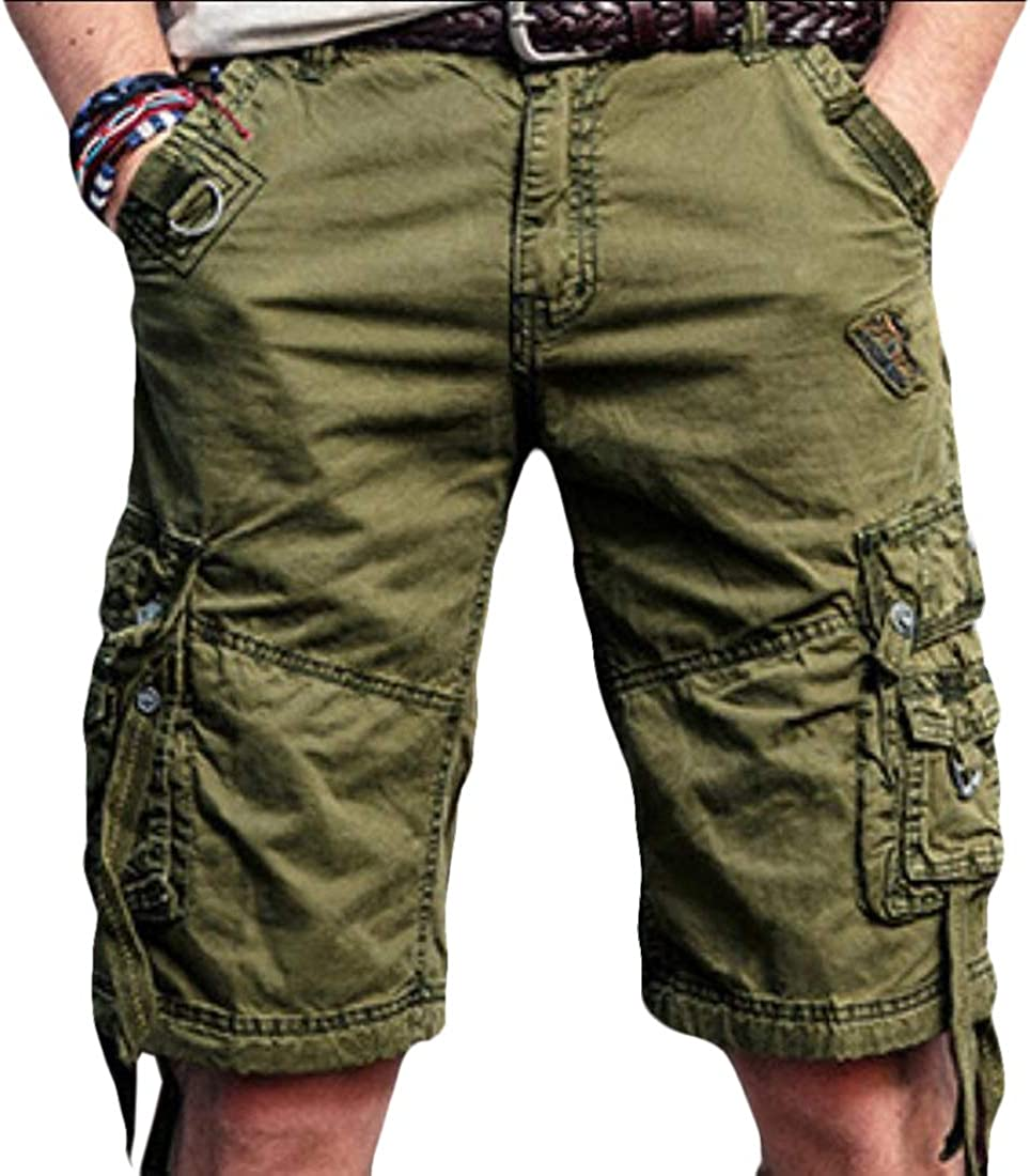 omniscient Mens Cotton Twill Cargo Shorts Summer Lightweight Shorts Outdoor Wear 2 32