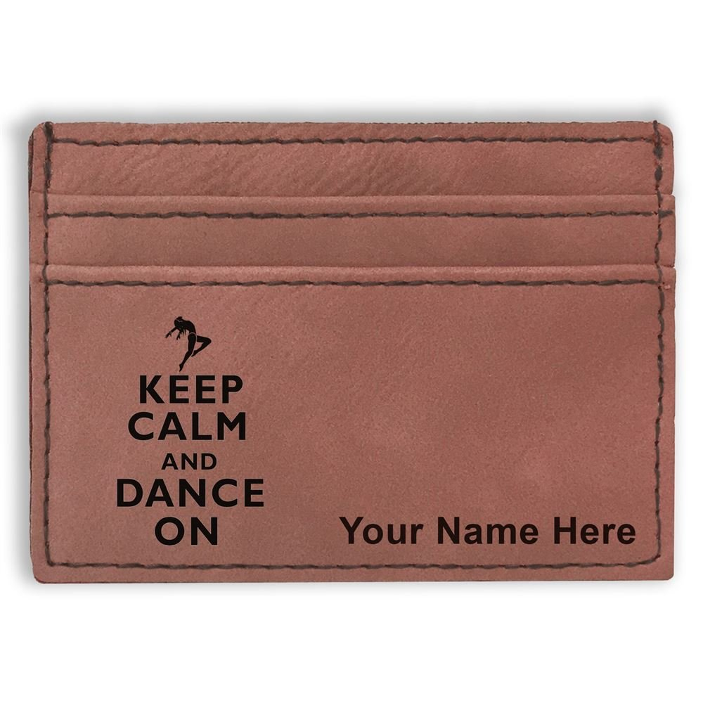 Keep Calm and Dance On Personalized Engraving Included Money Clip Wallet