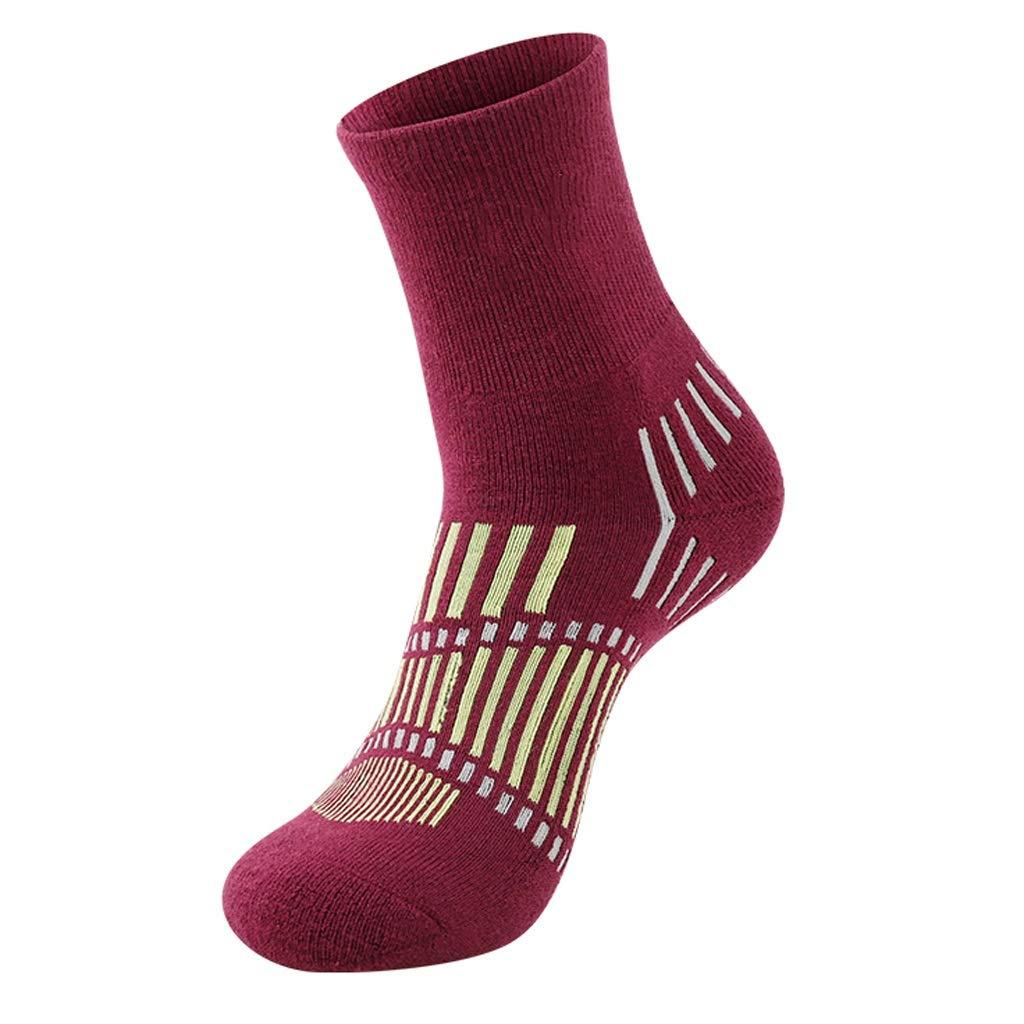 Merino Damen Wollsocken Reiten Wandern Wandern Ski Socken, Medium Tube Outdoor Multifunktionswarme Feuchtigkeitstransport-Socken (Color : A(7pairs), Größe : Ms. 34-40)