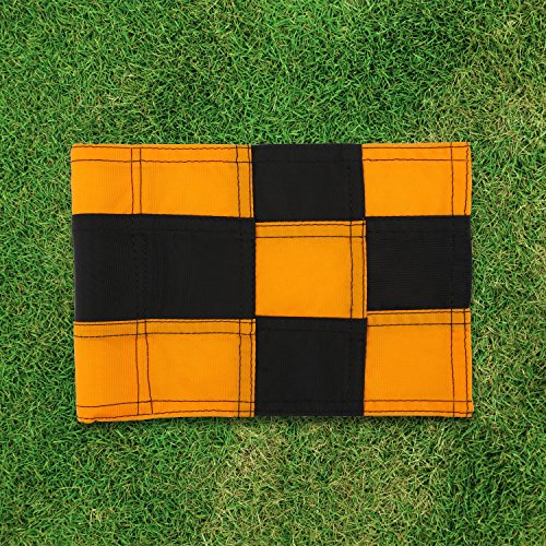 KONDAY Golf Flag,Practice Green Golf Flags, Solid Nylon and Checkered Traning Golf Putting Green Flags, Indoor Outdoor Backyard Garden Portable Golf Target flags by KONDAY (Image #3)