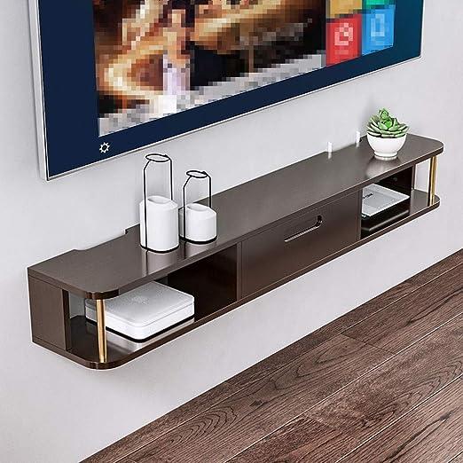 QYJ-Floating shelf Estantes flotantes para TV, para Colgar en la ...