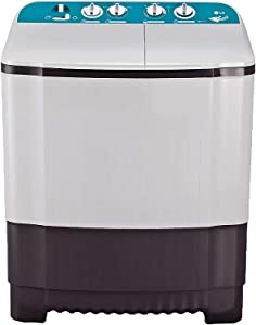 LG 6 Kg Semi-Automatic Top Loading Washing Machine (P6001RG, Dark Grey, Roller Jet Pulsator)