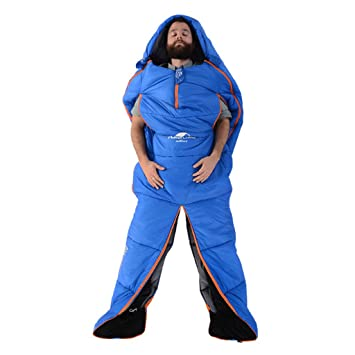 Guo Bolsa de Dormir de Forma Humana Al Aire Libre para Acampar Almohadilla de Interior Bolsa
