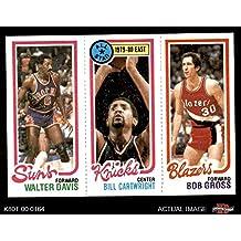 1980 Topps 191/9/199 Walter Davis/Bill Cartwright/Bob Gross (Basketball Card) Dean's Cards 6 - EX/MT