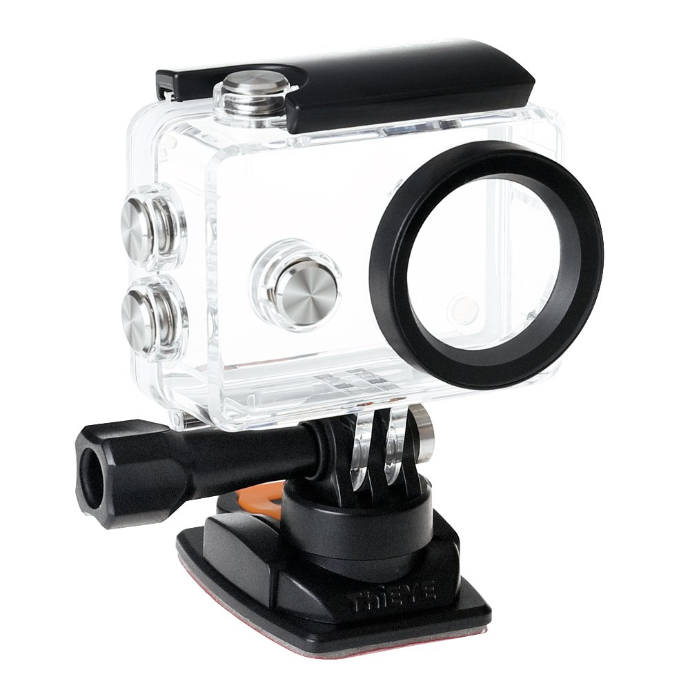 ThiEYE V5e Sports Action Camera Waterproof Housing Up to 197 Feet / 60M, Underwater Case With Unique 360 Degree Rotating Standard Buckle And J-Hook Buckle